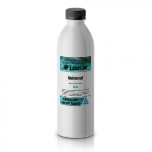 Тонер HP Color LJ Universal бутылка 500 гр Cyan SuperFine для принтеров