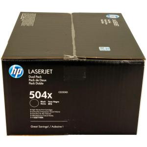 Картридж HP CE250XD №504X Black, увеличенный, 2 шт/уп