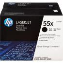 Картридж HP CE255XD №55X Black, увеличенный,2 шт/уп