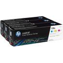 Картридж, набор 3 штуки цветных в упаковке CE321/322/323 HP CF371AM №128A цветной