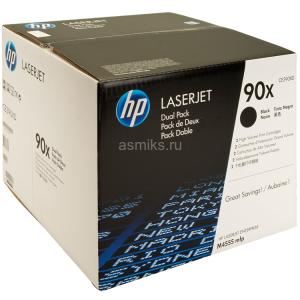 Картридж HP CE390XD №90X Black, 2 шт/уп, увеличенный
