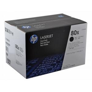 Картридж HP CF280XD №80X Black, увеличенный, 2 шт/уп