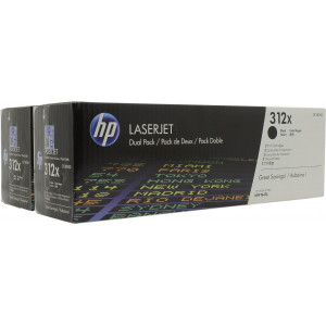 Картридж HP CF380XD №312X Black,2шт/уп