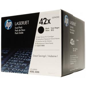 Картридж HP Q5942XD №42X Black, (2 шт/уп)