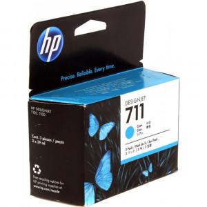 Картридж HP CZ134A №711 Cyan (3 шт. по 29 мл.)