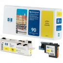 Желтая Печатающая головка с устройством очистки для принтеров HP C5057A №90