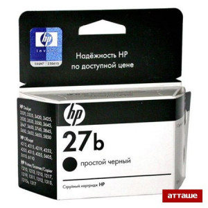 Картридж HP C8727BE №27 Black