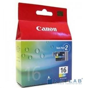 Картридж BCI-16C/9818A002 цветной Canon 2шт